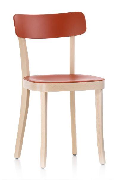 Chaise Basel Chair Bois Laque Rouge Vitra Jasper Morrison