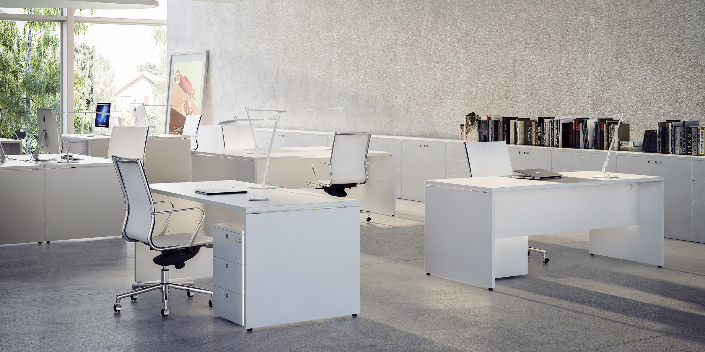Fantoni sistema 28 for Surface de bureau par personne